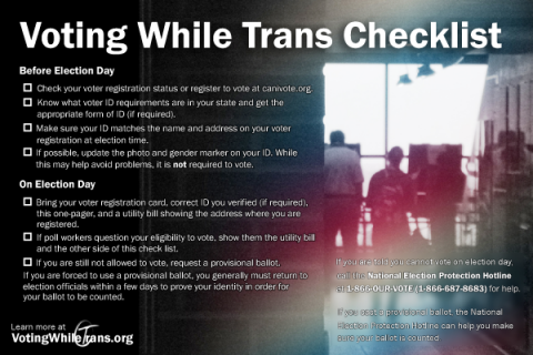 Voting While Trans Checklist