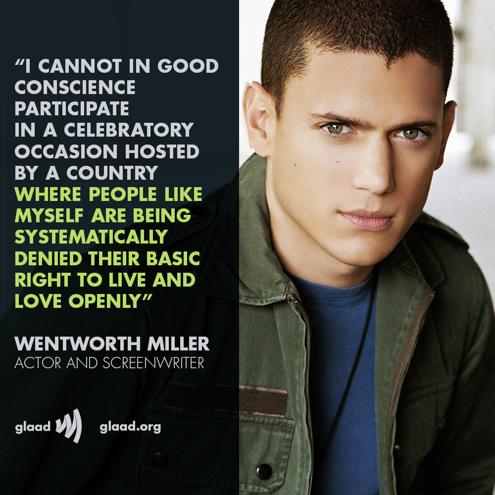 Wentworth Miller rejects Russian film festival invitation As a gay