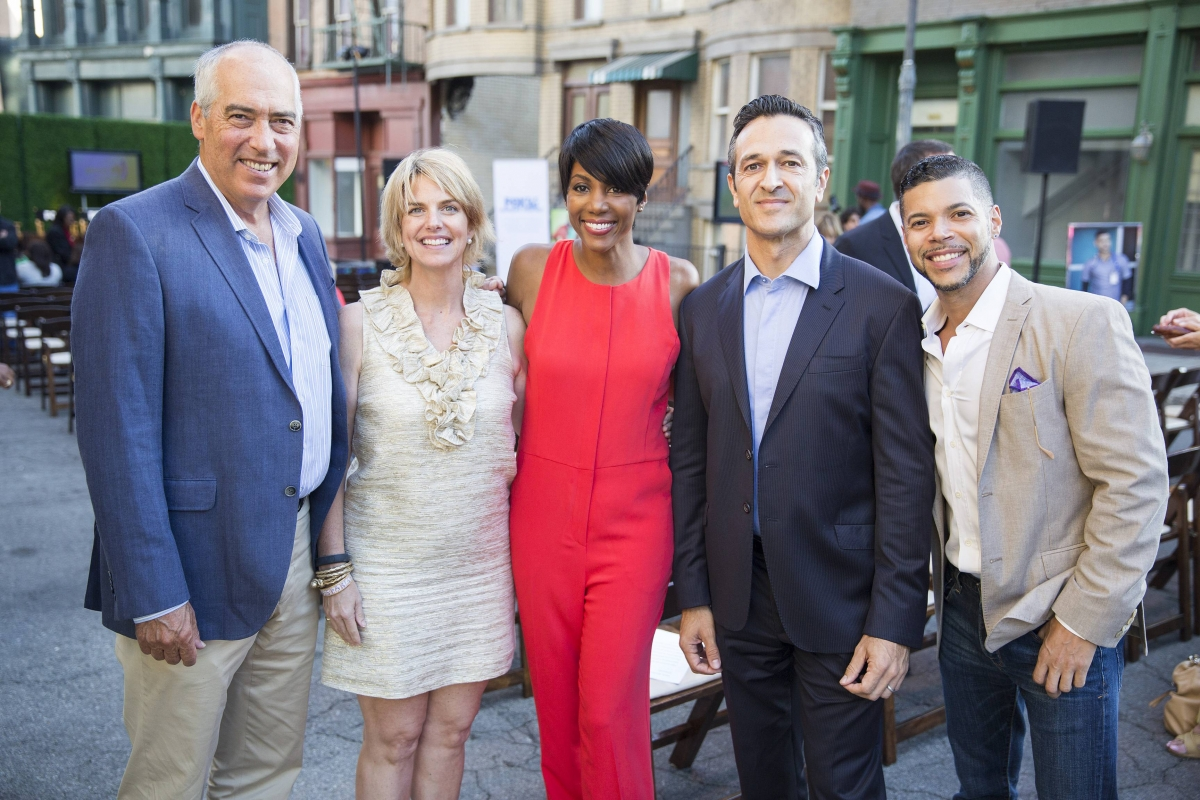 Pictured: Twentieth Century FOX Television Chairman Gary Newman, GLAAD President Sarah Kate Ellis, FOX Audience Strategy SVP Nicole A. Bernard, FOX International Channels President and CEO Hernan Lopez, Red Band Society actor and GLAAD spokesman Wilson Cr