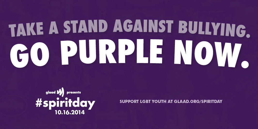Take a stand against bullying #spiritday