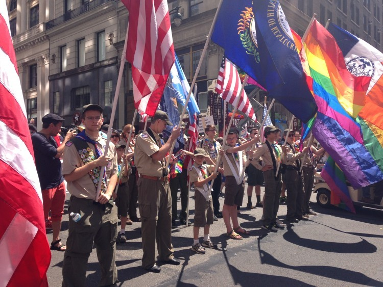Boy Scouts march at NYC Pride for the first time