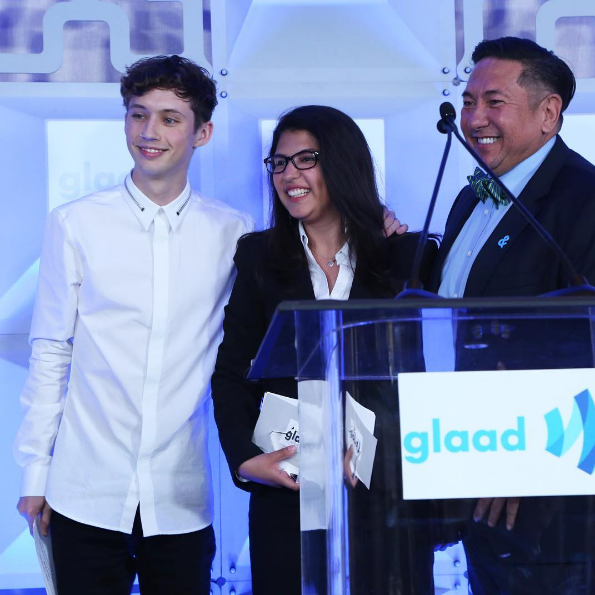 Troye Sivan at the GLAAD Rising Stars Luncheon on March 31, 2017