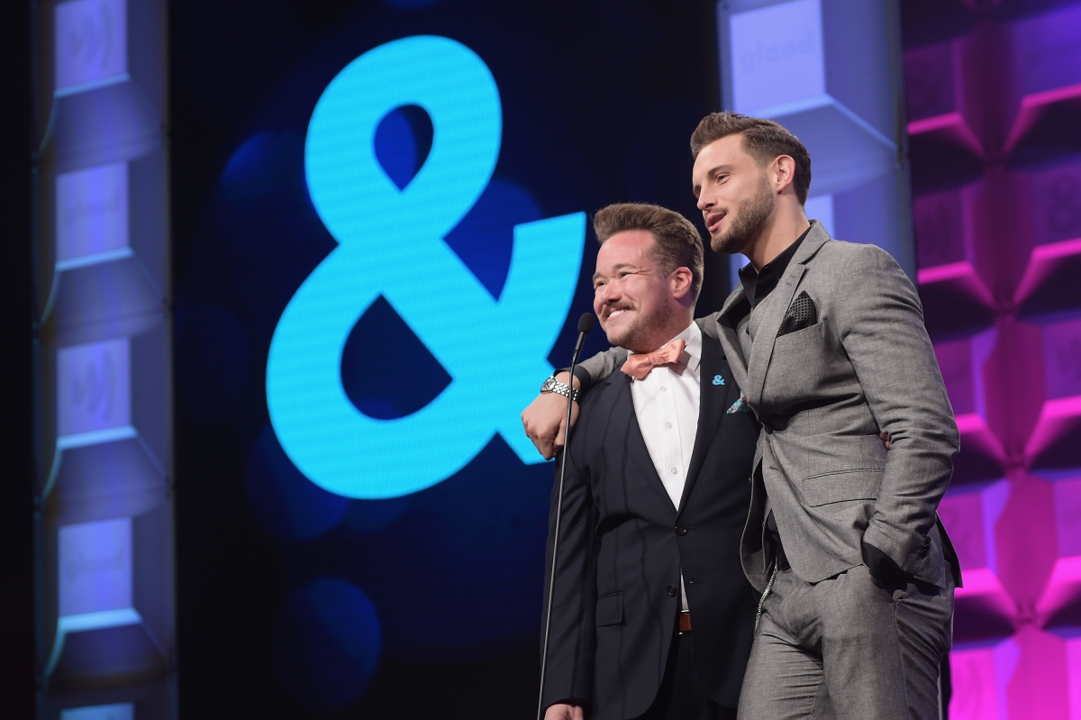 Zeke Smith and Nico Tortorella at the 28th Annual GLAAD Media Awards in New York City on May 6, 2017 (Photo by Jason Kempin/Getty Images for GLAAD)