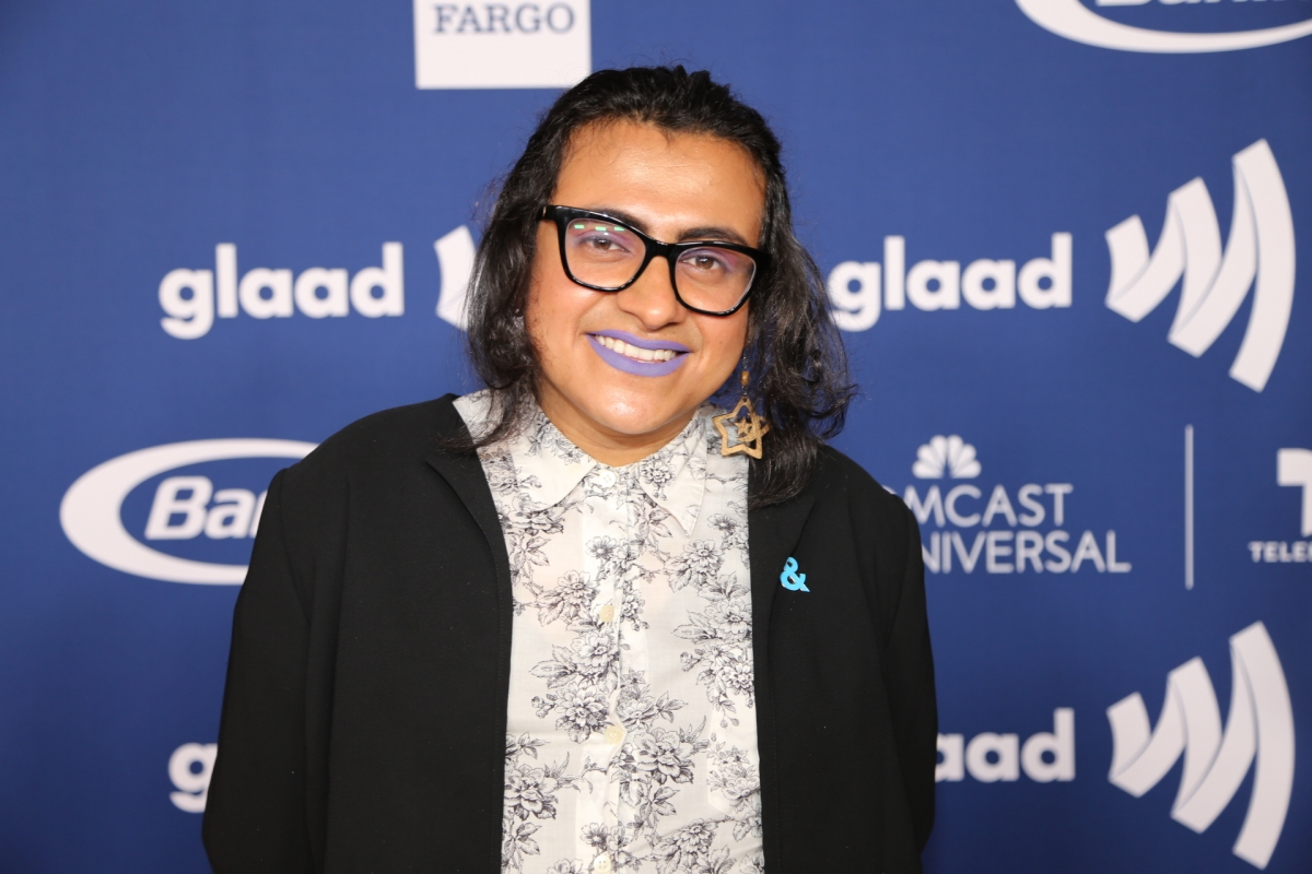 Eve Moreno at the GLAAD Rising Stars Red Carpet.
