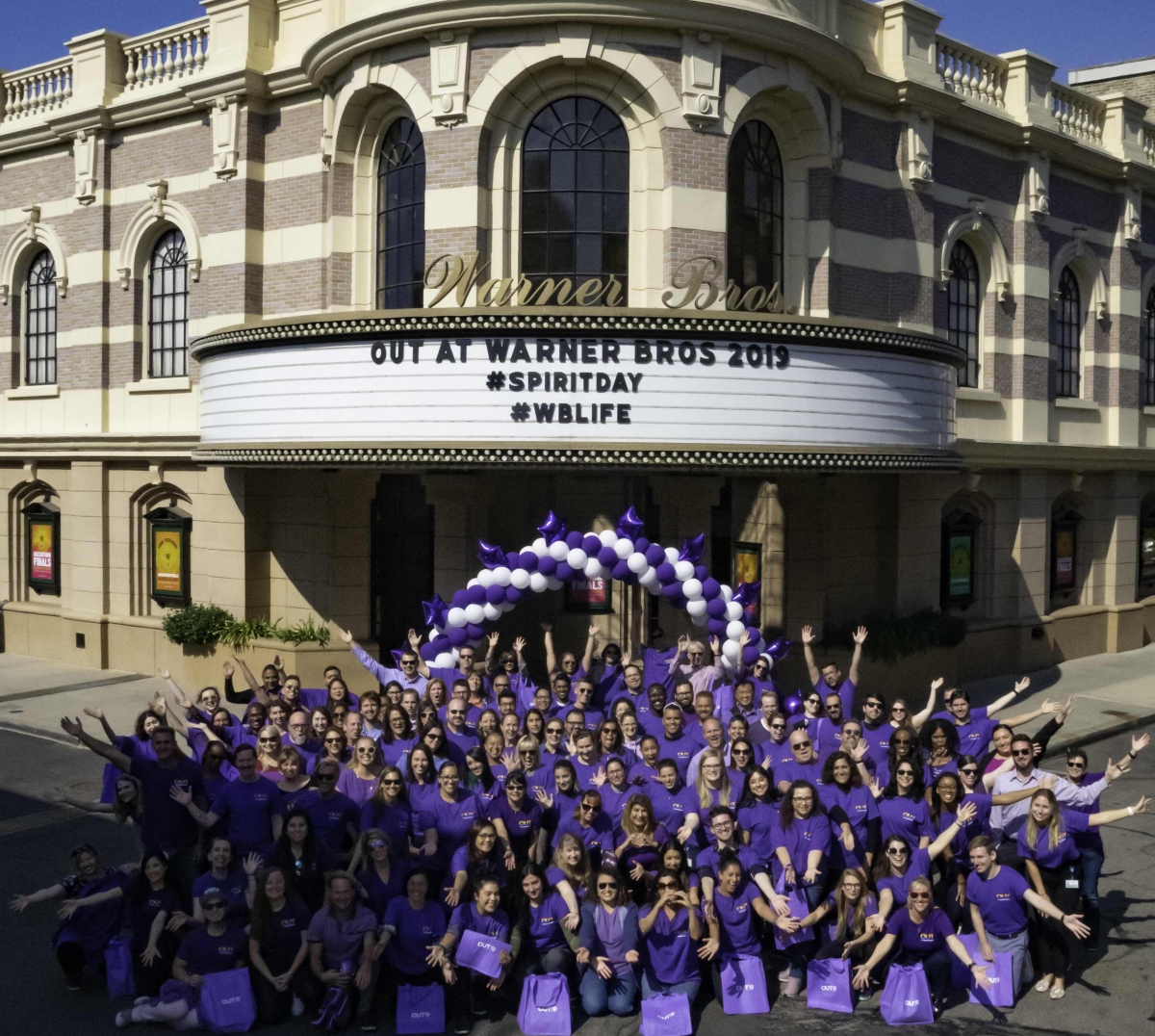 WB lot employees Spirit Day 2019