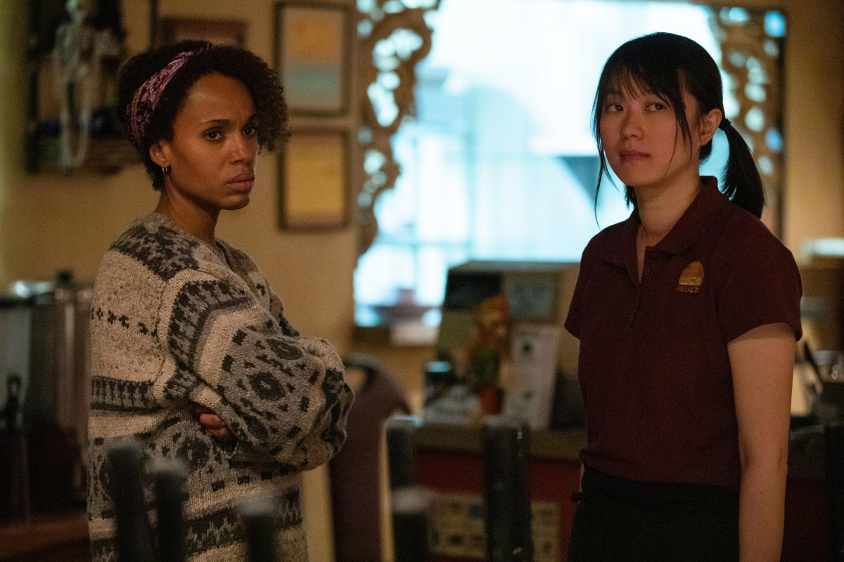 Kerry Washington and Lu Huang in Little Fires Everywhere
