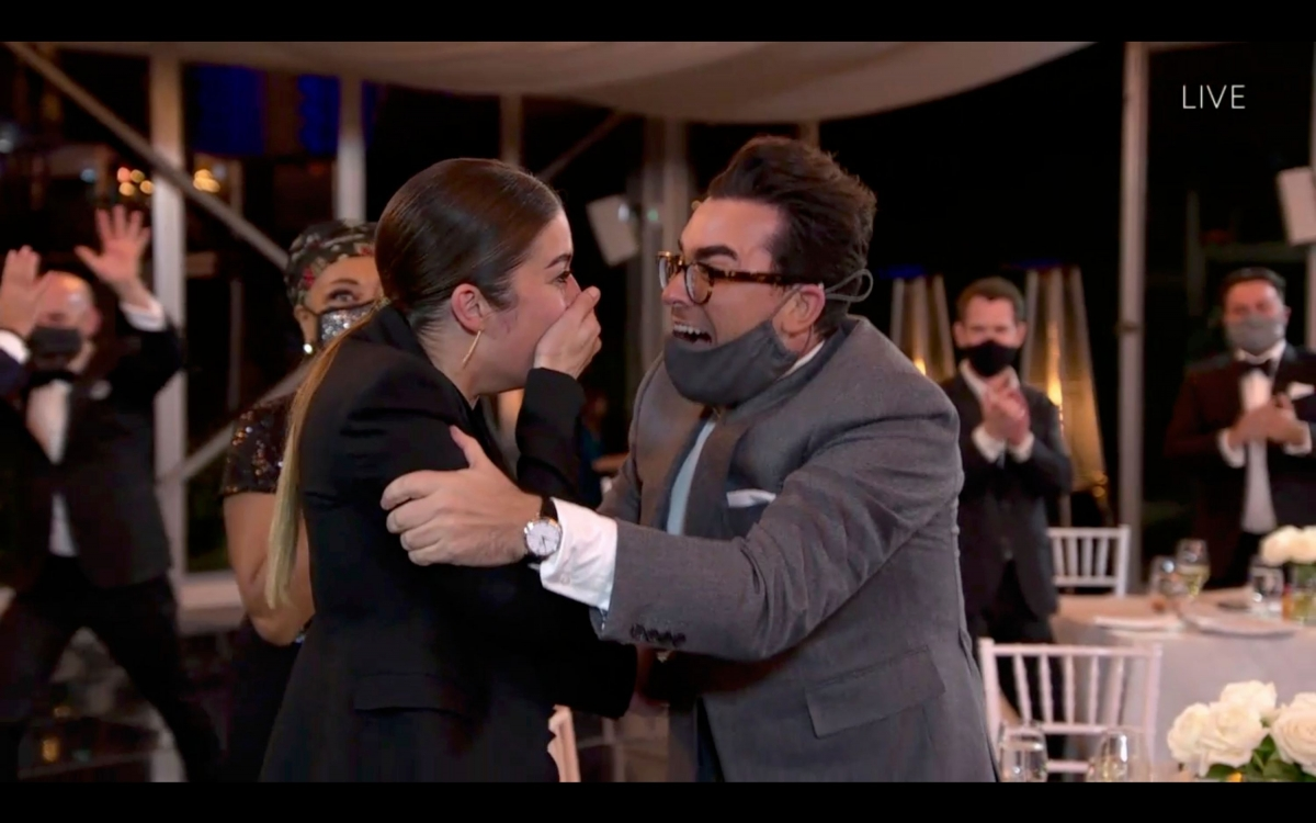 Annie Murphy and Dan Levy, Emmys