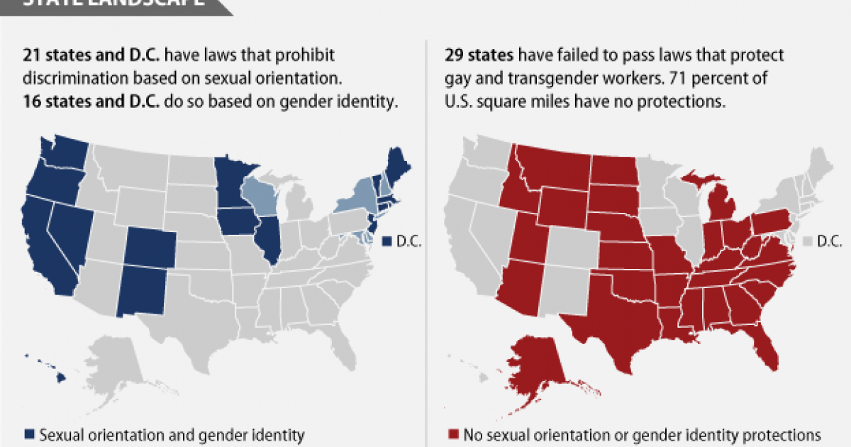 HRC GLAAD - Transgender map of us