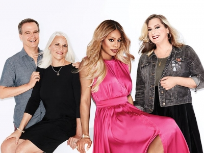 Photography by Emily Shur. From left: Tony Phelan, Joan Rater, Laverne Cox, Imogen Binnie.