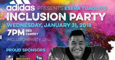 Esera Tuaolo's Inclusion Party invite