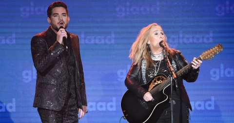 Melissa Etheridge and Adam Lambert