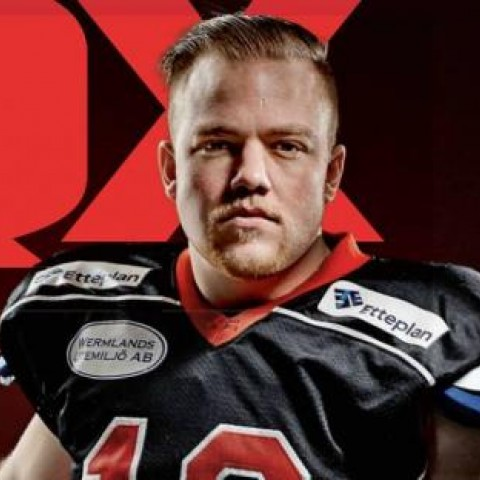 Marcus Juhlin, sweden, american football, football, sports, gay, coming out
