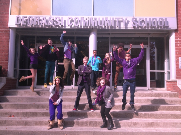 Cast of Degrassi Goes Purple, Tweets Support for #SpiritDay