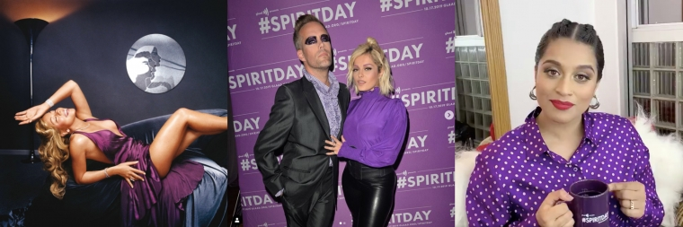 Mariah Carey Nicki Minaj Sterling K Brown Billy Porter 2020 Democrats Bebe Rexha James Corden Willow Smith Lilly Singh Kim Petras And More Go Purple And Support Lgbtq Youth On Spirit Day