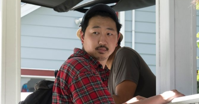 Andrew Ahn directing on the set of Driveways