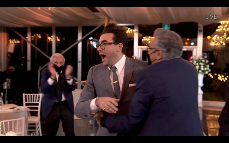 Schitt's Creek Dan Levy very excited after Emmys win
