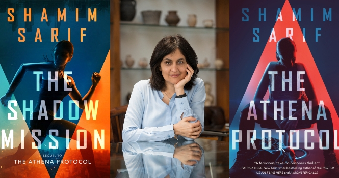 Shamim Sharif and book covers