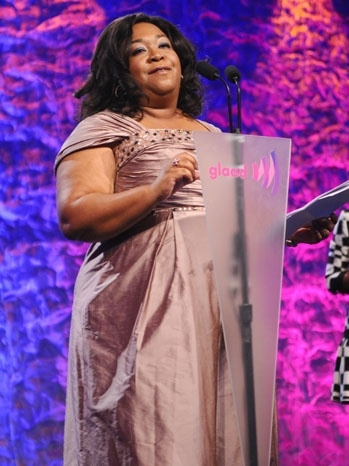 b6a13448d4d ... stars Kerry Washington, Guillermo Diaz and Katie Lowes presented Shonda  Rhimes (Grey's Anatomy, Private Practice, Scandal) with the Golden Gate Award  at ...