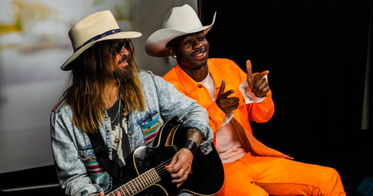 Lil Nas X and Billy Ray Cyrus (Photographer: Derrek Kupish)