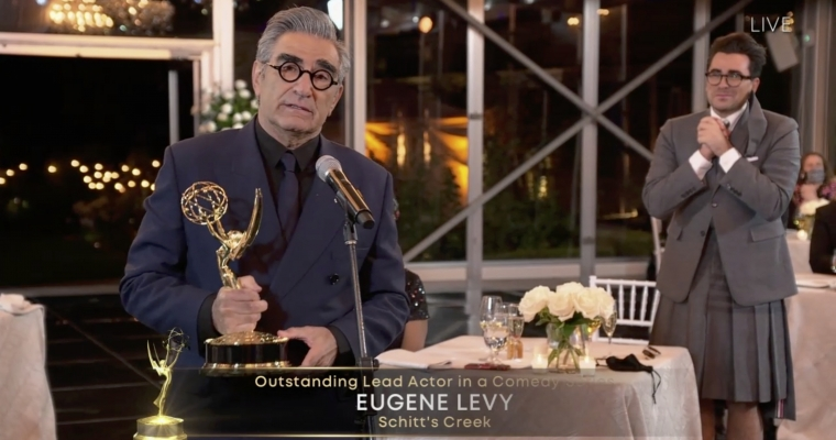 Schitt's Creek 72nd Emmy Awards - Dan and Eugene