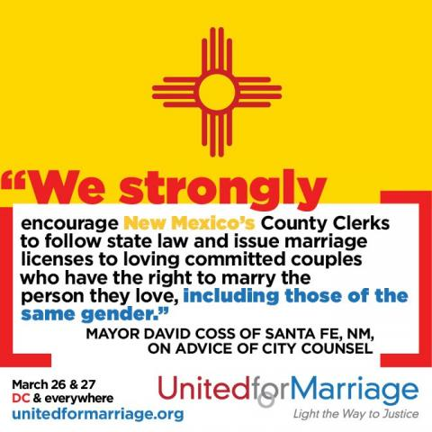 breaking new mexico lawsuit for marriage equality glaad. Black Bedroom Furniture Sets. Home Design Ideas