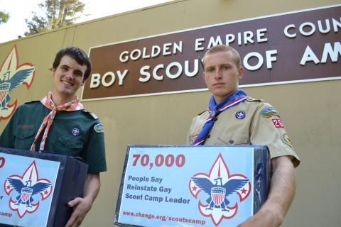 GLAAD's campaign to end the Boy Scouts' ban on gay scouts