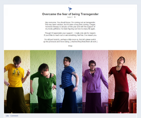 facebook stories shares essay on coming out as transgender glaad the facebook stories application which highlights the various experiences of the more than 500 million facebook users around the world featured an essay