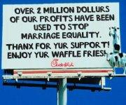 Image result for protests at chick-fil-a