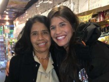 Jessica Aguilar and her mom